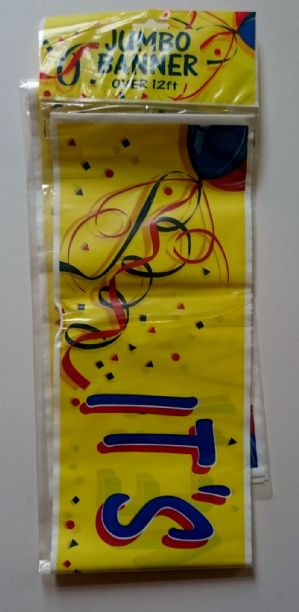 12ft party banner (Code 1364)
